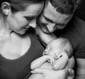 Jedna rodzina szczęśliwy — Zdjęcie stockowe