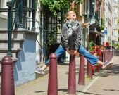 Girl in Amsterdam — Stock Photo