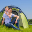 Family camping — Stock Photo #23011254