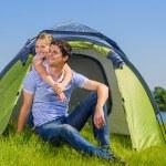 Family camping — Stock Photo #23011314