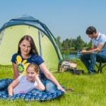 Family camping — Stock Photo #23011334