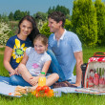 Family picnicking — Stock Photo #23011344