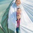 Family camping in the park — Stock Photo #23071872