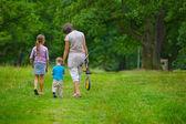 Anne ve çocuk parkı — Stok fotoğraf