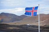 国旗的冰岛 — 图库照片