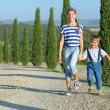 Happy family in Tuscan — Stock Photo #25005767