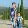 Happy family in Tuscan — Stock Photo #25005783