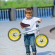 Royalty-Free Stock Photo: Little boy on a bicycle