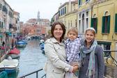 Venetiaanse weergave en familie — Stockfoto