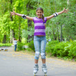 Roller skate girl — Stock Photo