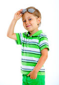 Boy in the sunglasses — Stock Photo