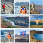 Hiker, Iceland — Stock Photo
