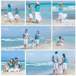 Family on tropical beach — Stock Photo