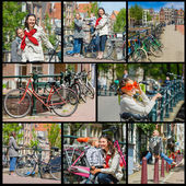 Tourists in Amsterdam. — Stock Photo
