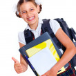 Portrait of cheerful schoolgirl — Stock Photo