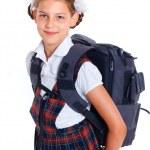 Portrait of cheerful schoolgirl — Stock Photo #26630503