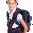 Portrait of cheerful schoolgirl — Stock Photo #26630503