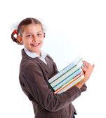 Portrait of cheerful schoolgirl — Stock Photo