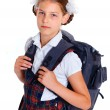 Portrait of schoolgirl — Stock Photo