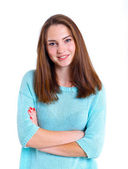Teenage girl in studio — Stock Photo