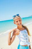 Girl on beach vacation — Stock Photo