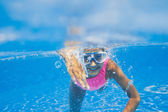 Underwater girl — Foto Stock