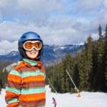 Girl on skis — Stock Photo #30982481