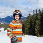 Girl on skis — Stock Photo #30982487