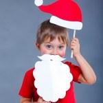 Little boy in Santa hat. — Stock Photo