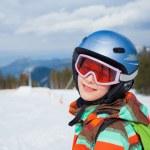 Girl on skis. — Stock Photo #31182567