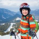 Girl on skis. — Stock Photo #31182573