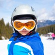 Little ski boy. — Stock Photo