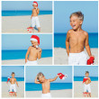 Little boy in santa hat — Stock Photo #32871099