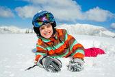 Ragazza sugli sci. — Foto Stock