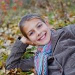 Girl in a autumn park — Stock Photo