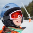 Girl on skis — Stock Photo
