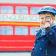 Little detective Funny boy — Stock Photo #34989741