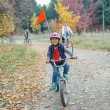 Little boy on bicycle — Stock Photo