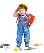 Little builder. — Stock Photo