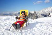 Winter, ski, sun and fun. — Stock Photo