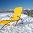 Chair on top of mountain — Stock Photo