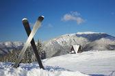 Ski equipments — Stock Photo