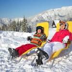 Winter, ski, sun and fun. — Stock Photo #37410401