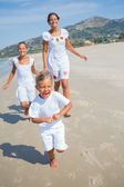 Cute kids on the beach — Foto Stock