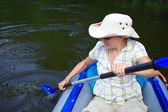 Woman kayaking — Stock Photo