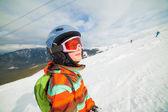 Dziewczyna na narty — Zdjęcie stockowe