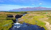 Mountain river panorama. — Stock Photo