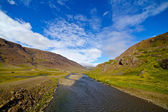 Mountain river panorama. — Stock Photo