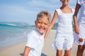 Cute kids on the beach — Stock Photo
