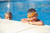 Activities on the pool — Foto Stock